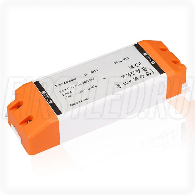 Блок питания 75W — 24V, 3.15A, PFC (Компактный, Пластик-SL)