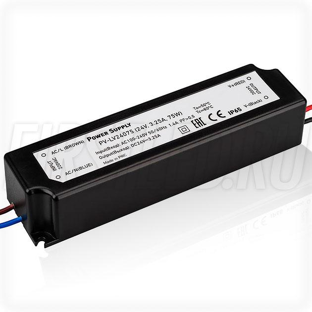 Блок питания 75W — 24V, 3.25A (IP67, Пластик-LV)