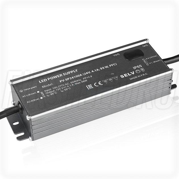 Блок питания 99W — 22-27V, 2.5-4.1A, PFC (IP65, Металл-SPA)