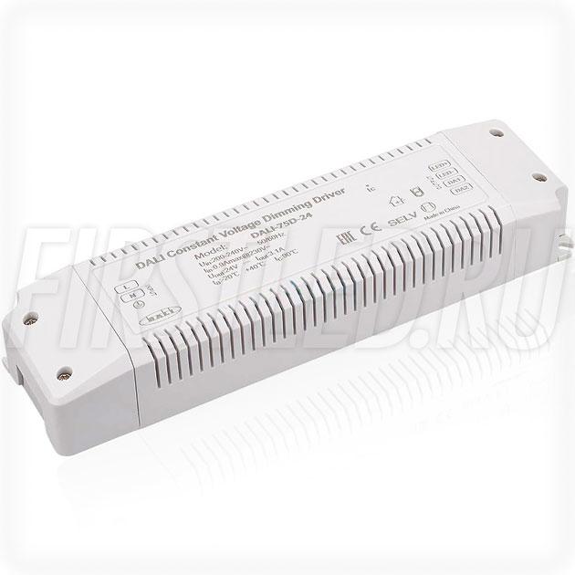 Диммируемый блок питания 75W — 24V, 3.1A, DALI (IP20, Пластик-D)