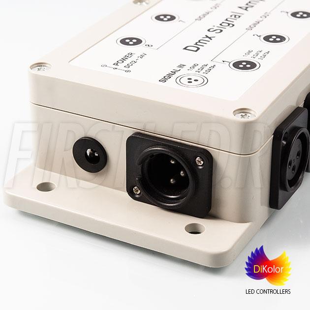 DMX вход для контроллера на DMX усилителе DiKolor DMX AMP-8CH (12/24V)