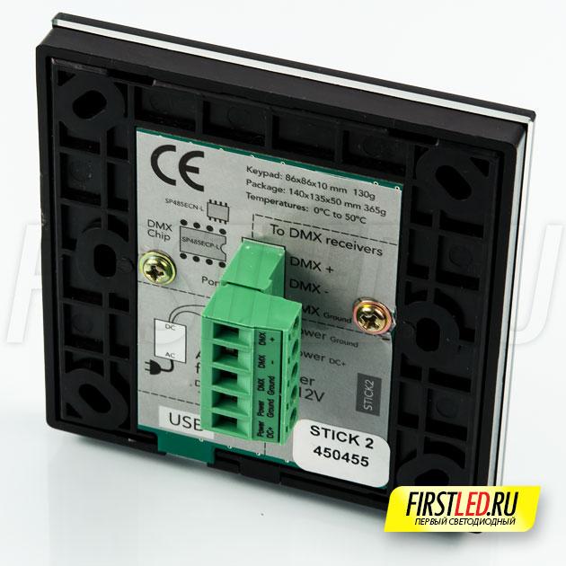 Сенсорный светодиодный DMX контроллер STICK-GU2 (Nicolaudie, Sunlite, STICK 2) — вид сзади