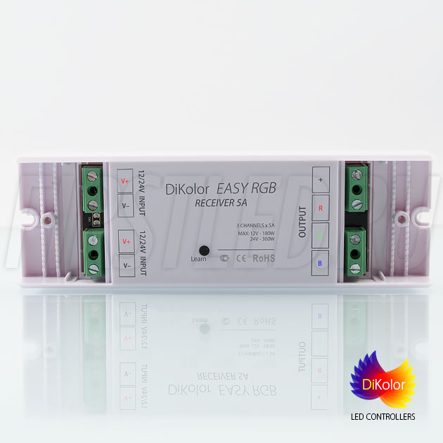 Компактный приемник DiKolor EASY RGB для подключения светодиодной ленты