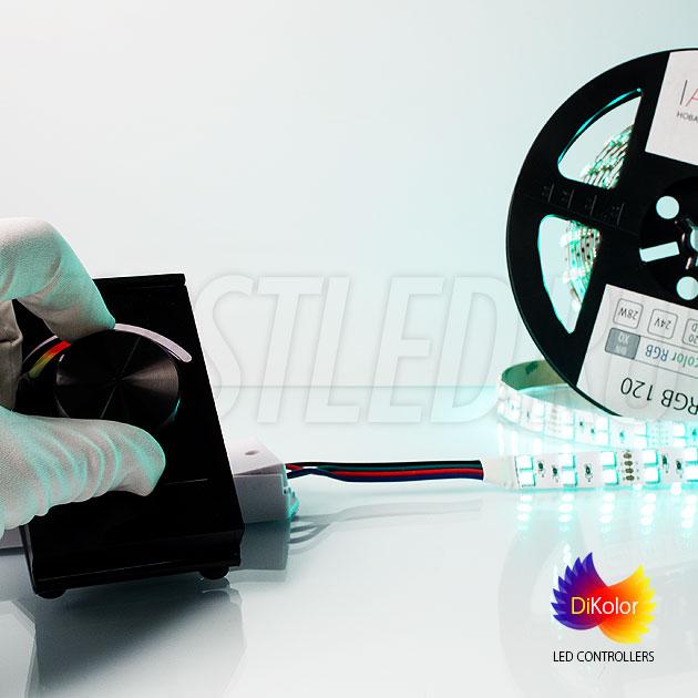 При удержании колесика DiKolor Table RGB более 3 секунд включается белый цвет с максимальной яркостью