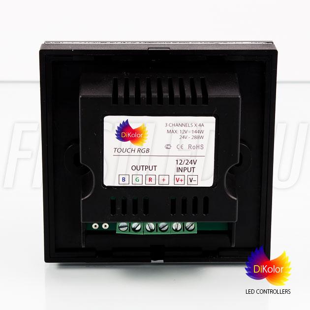 DiKolor TOUCH RGB — сенсорный светодиодный контроллер, вид сзади