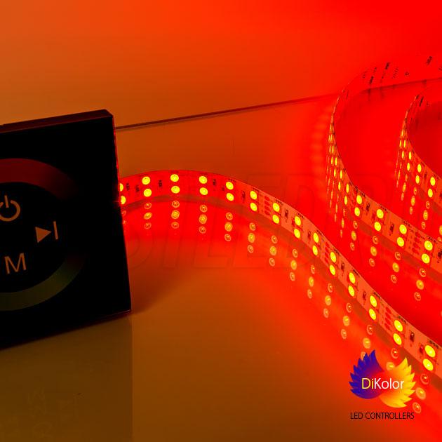 Сенсорное управление многоцветной RGB светодиодной лентой с помощью контроллера DiKolor TOUCH RGB