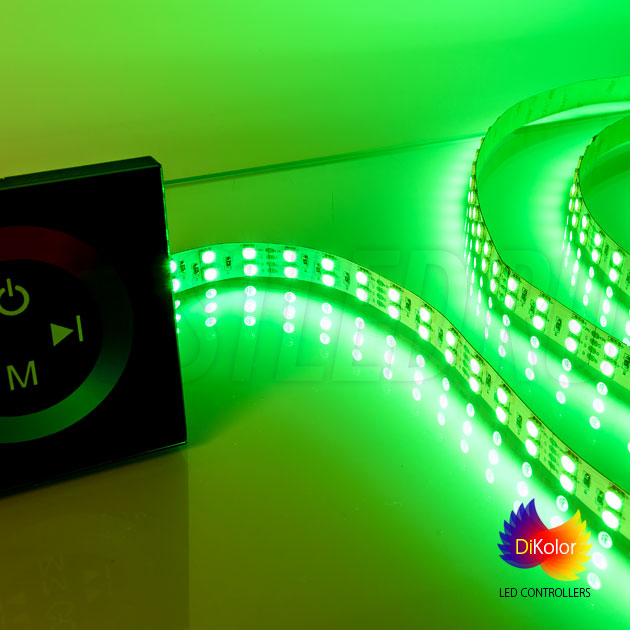 Управление светодиодной лентой IAMLED RGB 120 с помощью светодиодного контроллера DiKolor TOUCH RGB