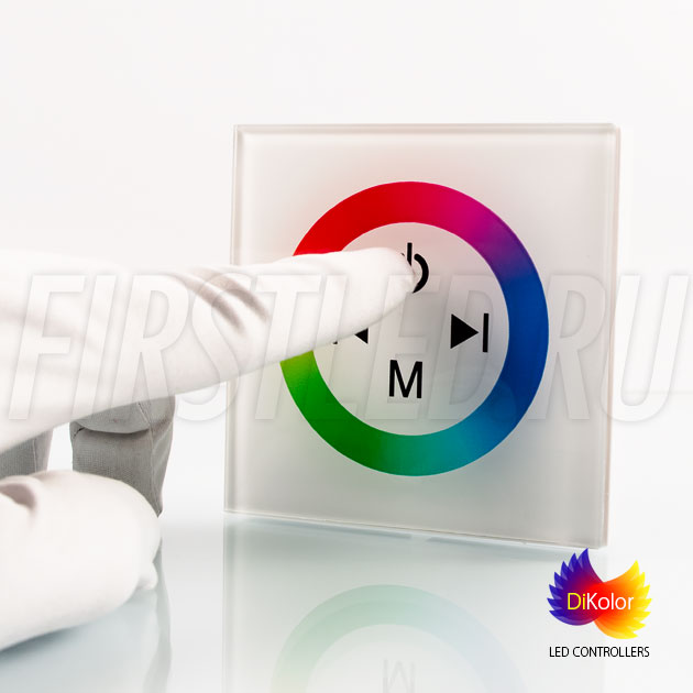 Светодиодный контроллер DiKolor TOUCH RGB в белом корпусе