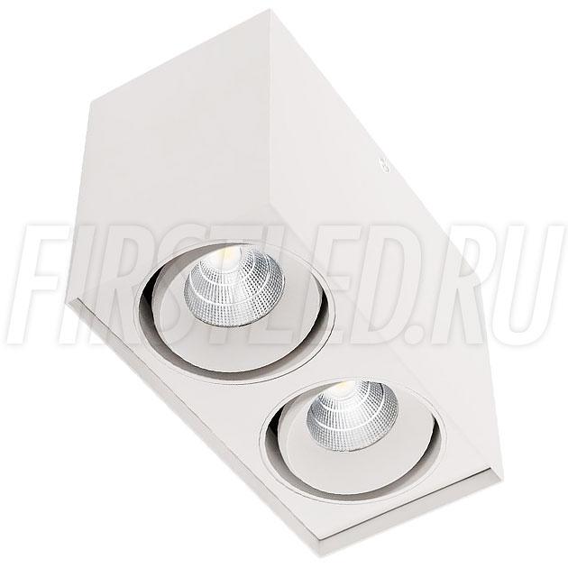 Накладной светодиодный светильник CUBOID DUO (белый корпус)