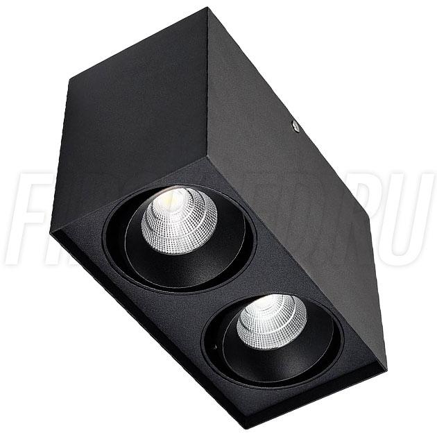 Накладной светодиодный светильник CUBOID DUO (черный корпус)