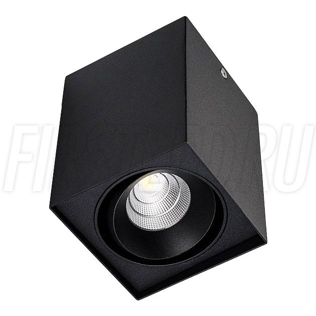 Накладной светодиодный светильник CUBOID UNO (черный корпус)