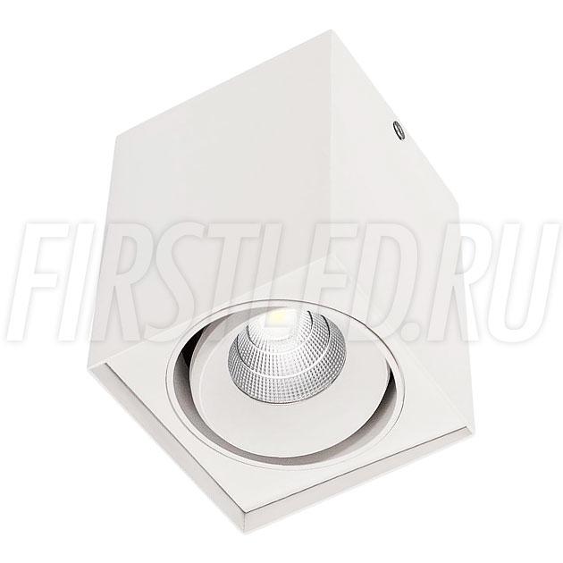 Накладной светодиодный светильник CUBOID UNO (белый корпус)
