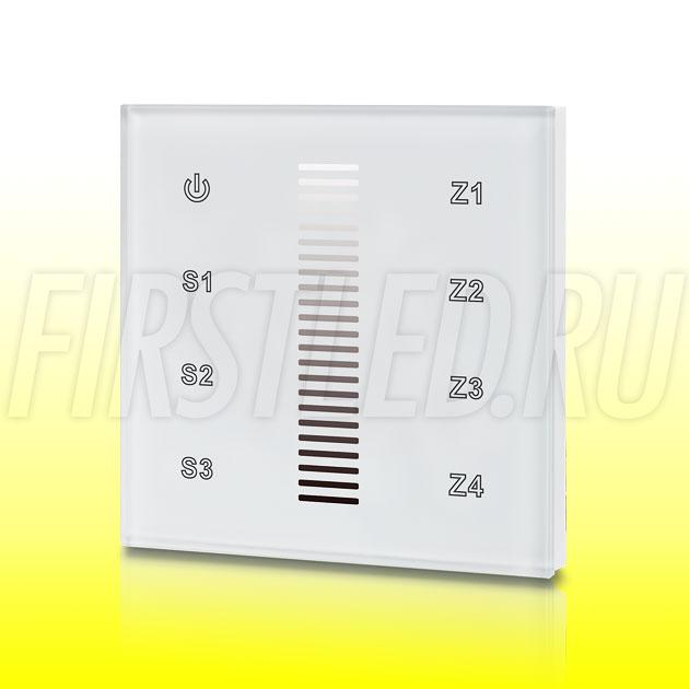 Настенный сенсорный светодиодный контроллер DiKolor SCALE LIGHT 4 (белая панель)