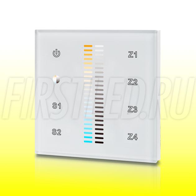 Настенный сенсорный светодиодный контроллер DiKolor SCALE MULTIWHITE 4 (белая панель)