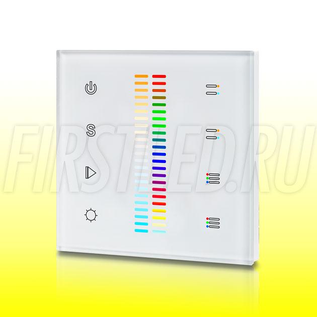 Настенный сенсорный светодиодный контроллер DiKolor SCALE RGB MULTIWHITE 2 (белая панель)