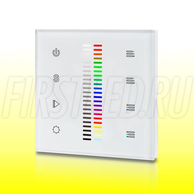 Настенный сенсорный светодиодный контроллер DiKolor SCALE RGB WHITE 2