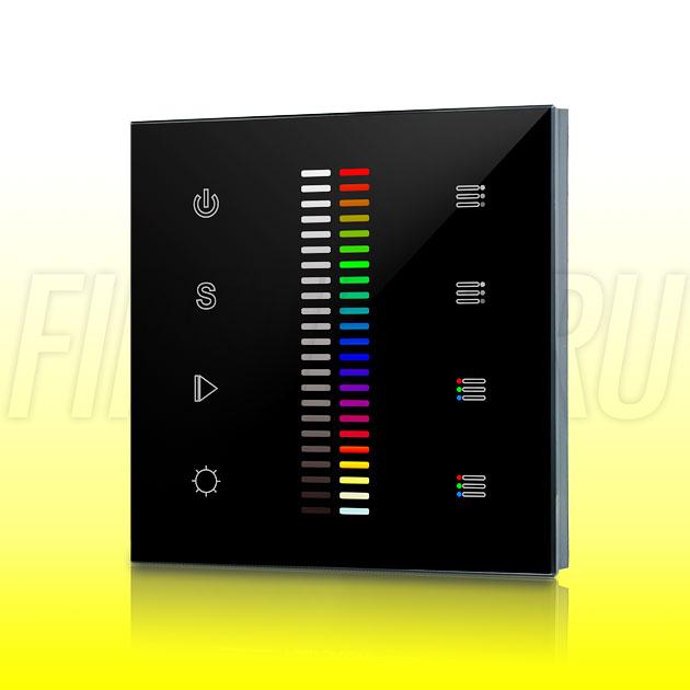 Настенный сенсорный светодиодный контроллер DiKolor SCALE RGB WHITE 2 (черная панель)