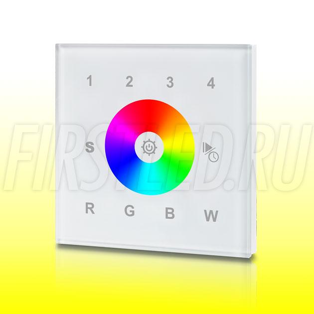 Настенный сенсорный светодиодный контроллер DiKolor SENS C RGBW 4 (белая панель)