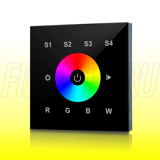 Настенный сенсорный светодиодный контроллер DiKolor SENS C RGBW (черная панель)
