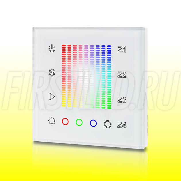 Настенный сенсорный светодиодный контроллер DiKolor SENS K RGBW 4 (белая панель)
