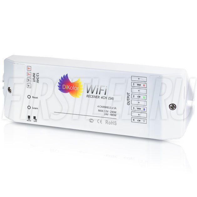 Светодиодный Wi-Fi приемник DiKolor WiFi RECEIVER 4CH (5A)