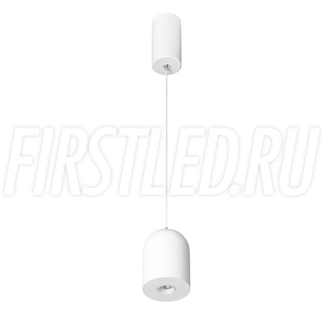 Подвесной светодиодный светильник ELEMENTA DOME 9W в белом корпусе