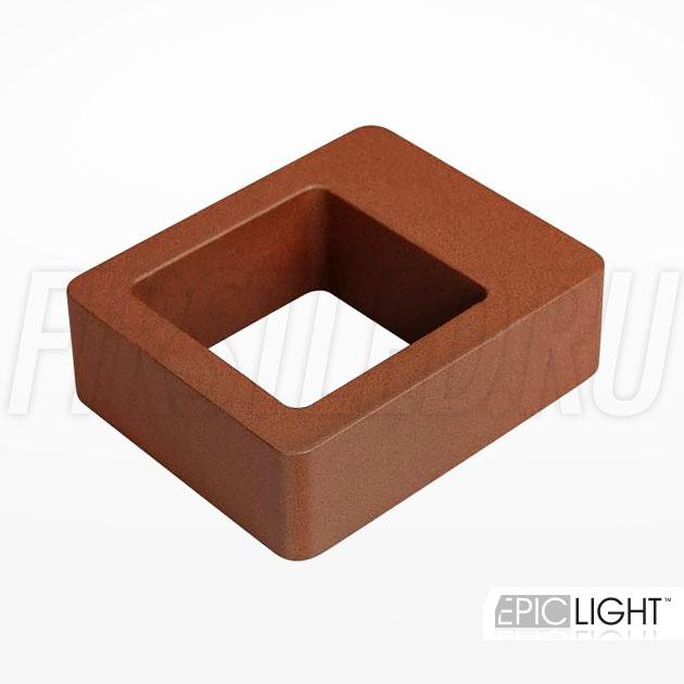 Настенный светодиодный светильник FRAMER (коричневый)