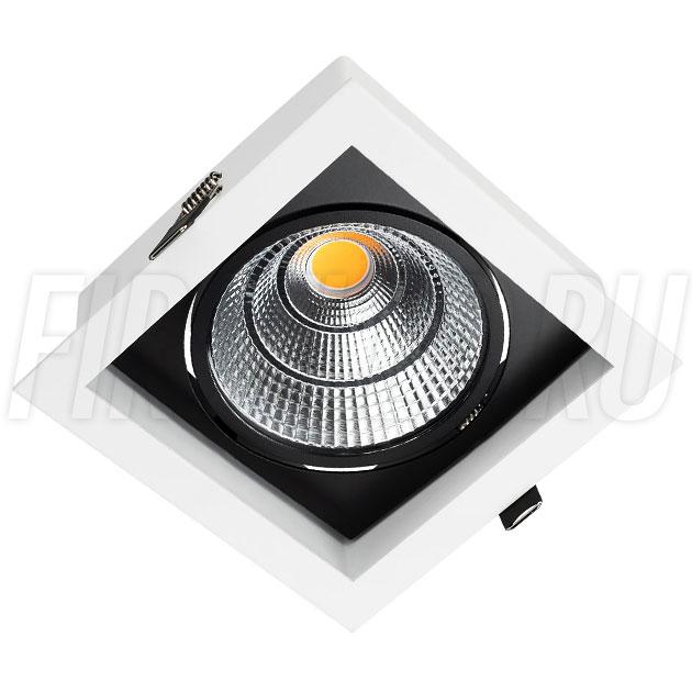 Встраиваемый карданный светодиодный светильник KARDAN 25W (152mm)