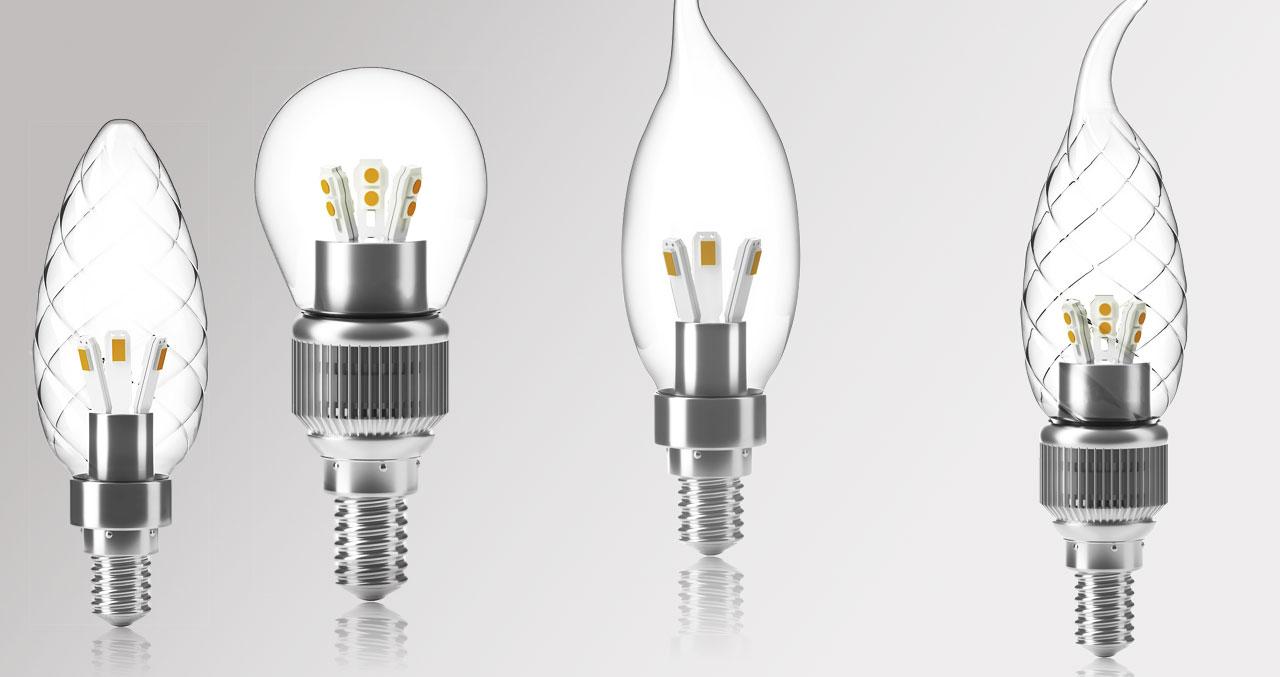 Светодиодные лампы с цоколем Е14 для люстр