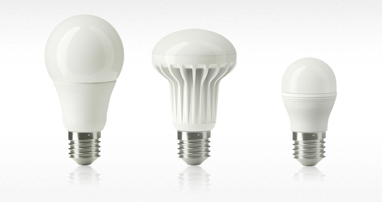 Стандартные светодиодные лампы с цоколем Е27