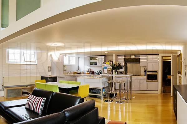 Светодиодная подсветка потолка и потолочных ниш в столовой или на кухне