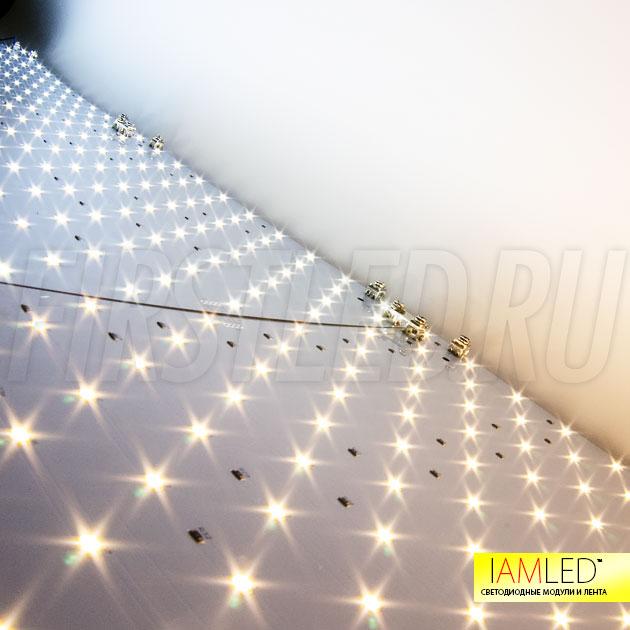 Также светодиодные модули IAMLED MODULE 120 могут применяться в качестве рекламной подсветки в коробах