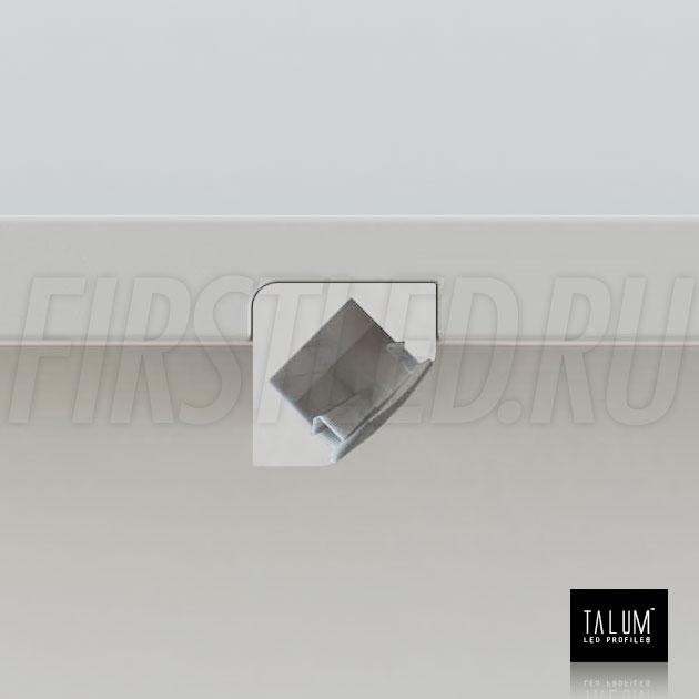 Способ монтажа углового светодиодного профиля TALUM C18.18