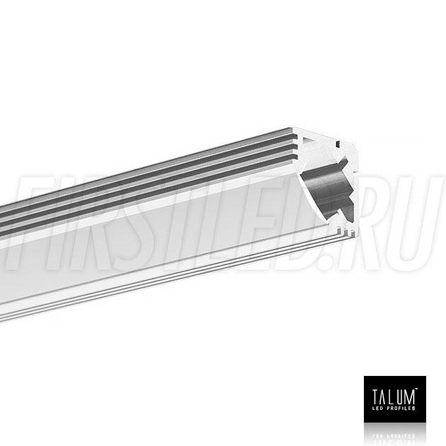 Угловой алюминиевый профиль TALUM C19.19 вместе с матовым рассеивателем