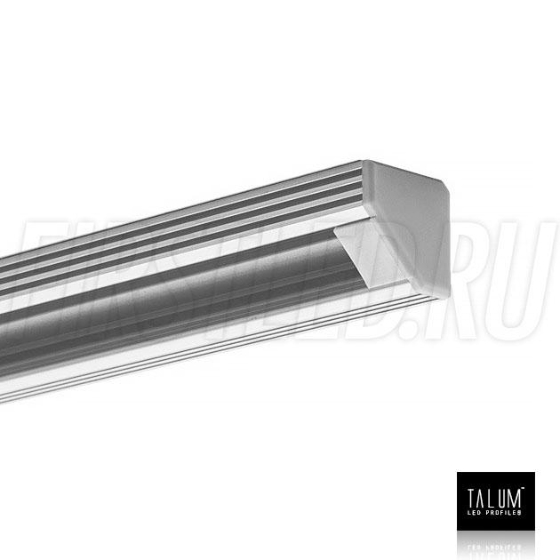 Угловой алюминиевый профиль TALUM C19.19 с заглушкой