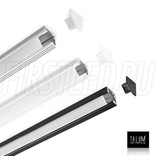 Угловой алюминиевый профиль TALUM C19.19 в анодированном, белом или черном исполнении
