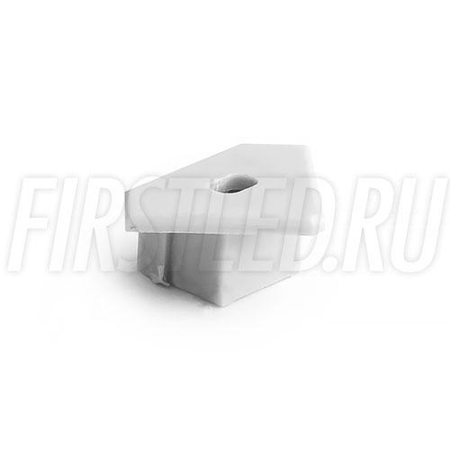 Заглушка с отверстием для углового алюминиевого профиля TALUM C19.19