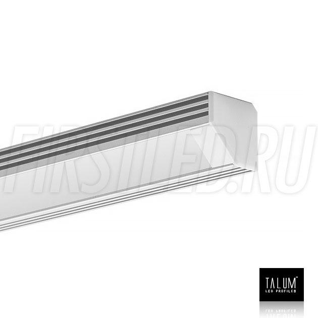 Угловой алюминиевый профиль TALUM C19.19A с заглушкой и матовым рассеивателем