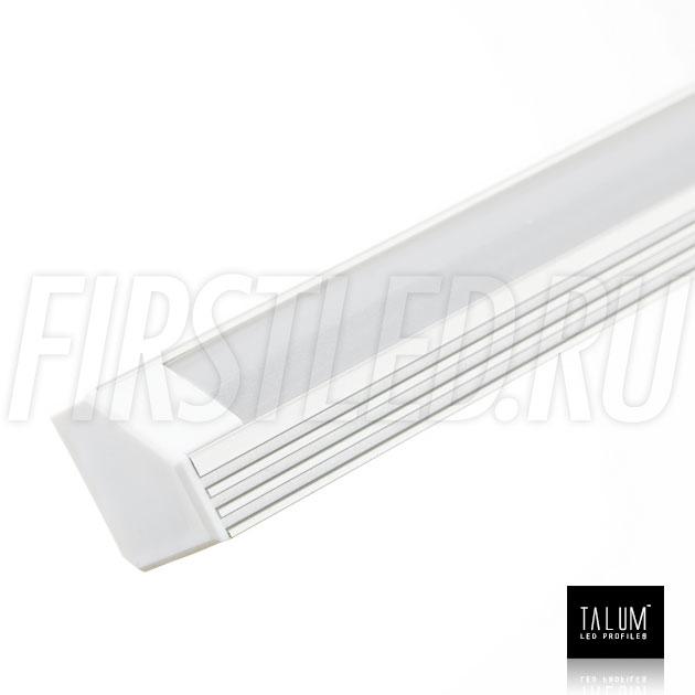 Угловой алюминиевый профиль TALUM C19.19A анодированный алюминий