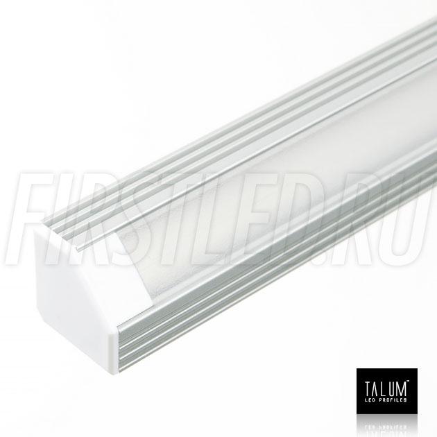 Угловой алюминиевый профиль TALUM C19.19A для светодиодной ленты