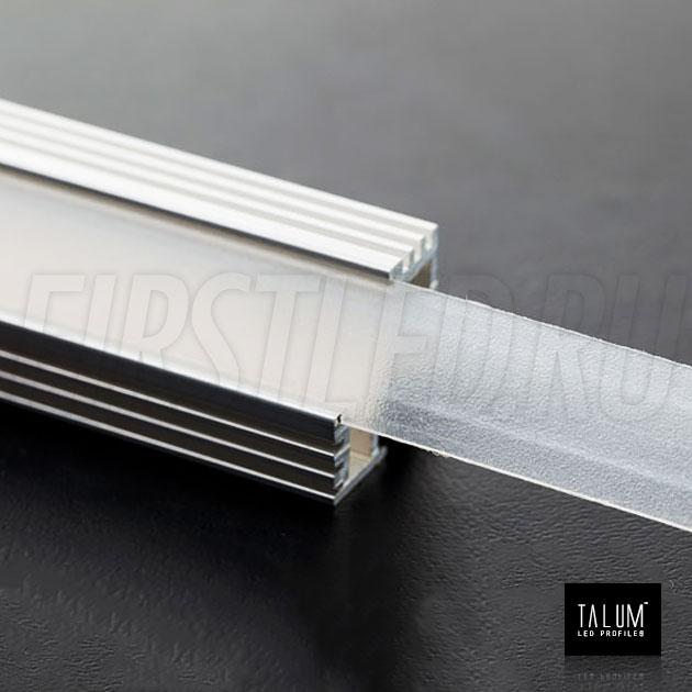 Угловой алюминиевый профиль TALUM C19.19A с матовым рассеивателем