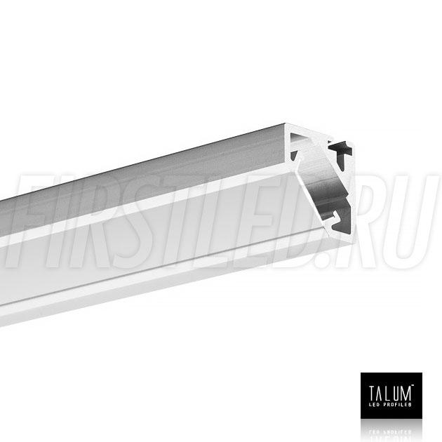 Угловой алюминиевый профиль TALUM C19.19G вместе с матовым рассеивателем