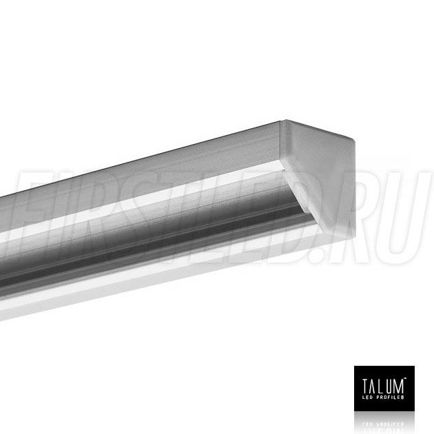 Угловой алюминиевый профиль TALUM C19.19G с заглушкой