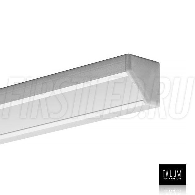 Угловой алюминиевый профиль TALUM C19.19G с заглушкой и матовым рассеивателем