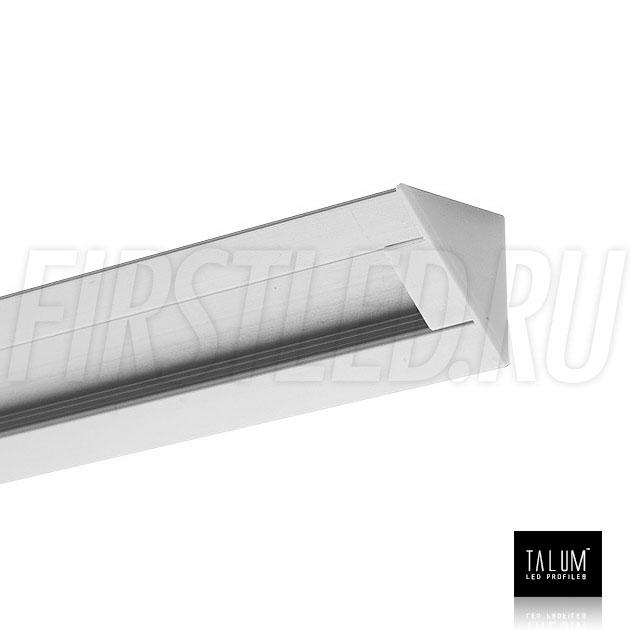 Угловой алюминиевый профиль TALUM C22.22 с заглушкой