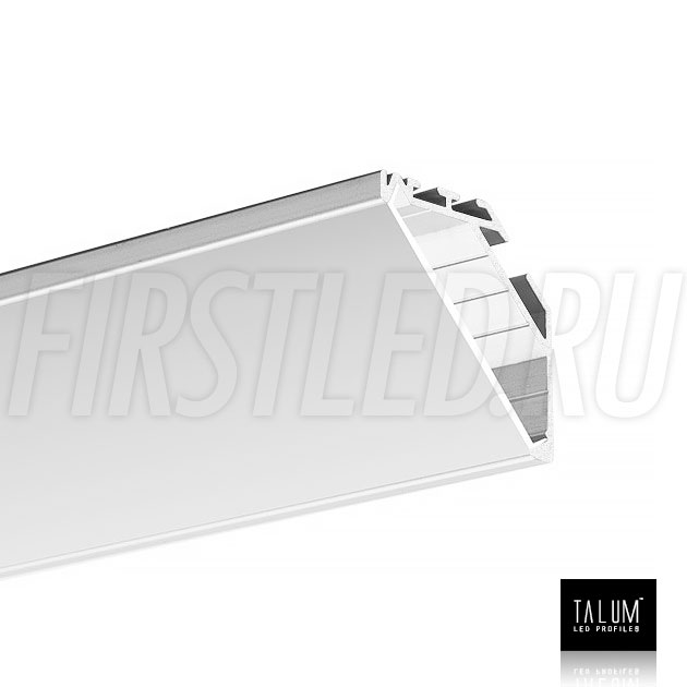 Угловой алюминиевый профиль TALUM C32.32 вместе с прямым матовым рассеивателем
