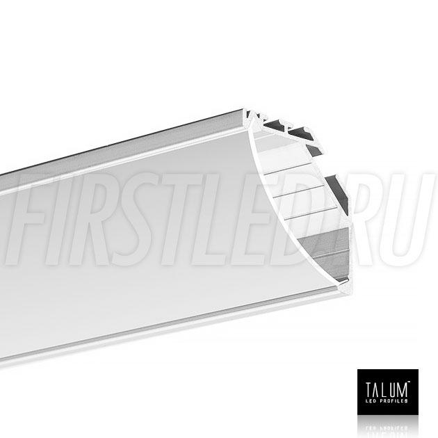 Угловой алюминиевый профиль TALUM C32.32 вместе с полукруглым матовым рассеивателем