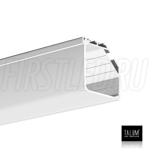Угловой алюминиевый профиль TALUM C32.32 вместе с квадратным матовым рассеивателем