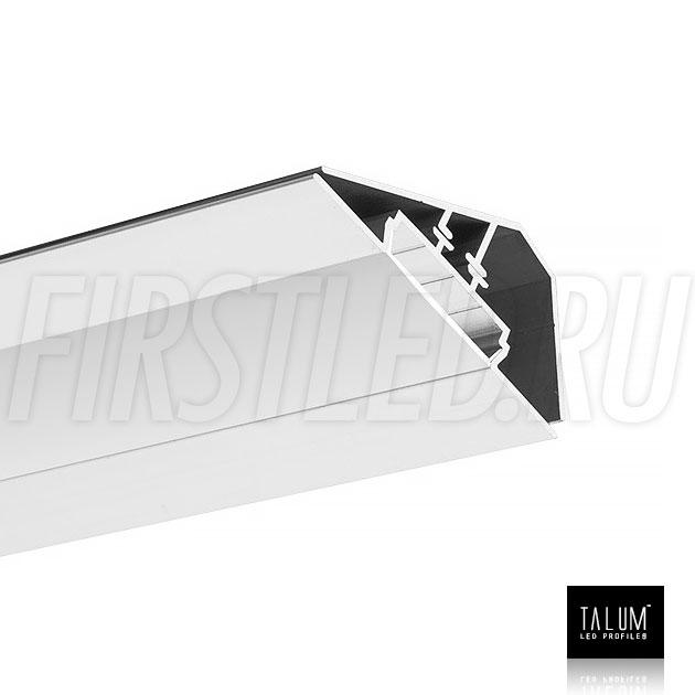 Угловой алюминиевый профиль TALUM C46.27 вместе с матовым рассеивателем