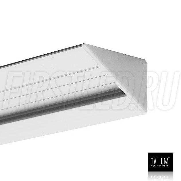 Угловой алюминиевый профиль TALUM C46.27 с заглушкой